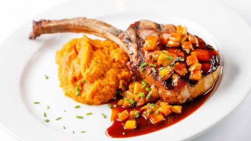 pork-chop-sweet-mashed-potatoes